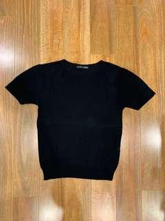 Zara Slinky Lightweight Black T-shirt