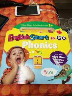 English Smart to Go Wipe Clean Book