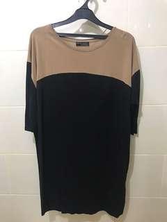 Zara bicolor loose dress