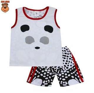 New Mac Bear Setelan Panda Polka