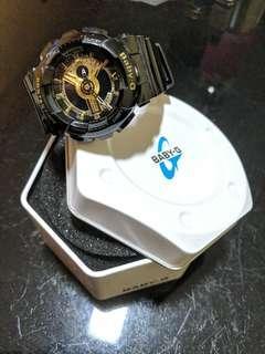 Baby G Casio Black & Gold