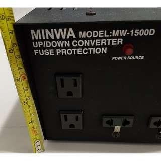 1500V step up/down converter (Minwa - MW 1500D)