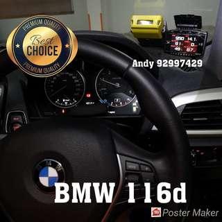 BMW 116d Lufi X1 Revolution OBD OBD2 Gauge Meter display