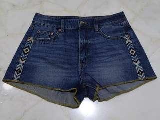BN H&M Denim Tribal Shorts