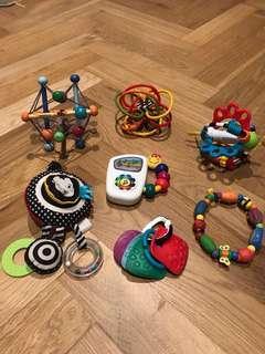 Bundle of baby toys (Manhattan toy, baby Einstein, playgro, Nuby)