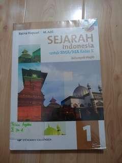 Sejarah Indonesia Kelas 10 X kurikulum 2013 Penerbit erlangga
