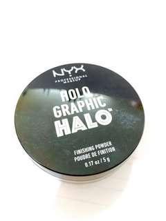 NYX holo graphic halo finishing power 定妝碎粉