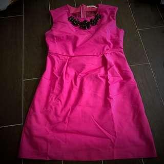 [2 for $20] dark pink knee length sleeveless mesh back dress