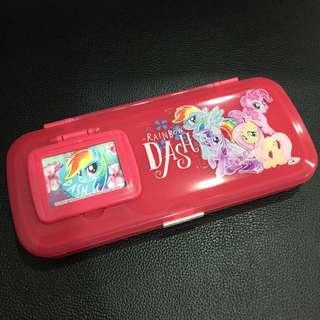 🚚 彩虹小馬 鉛筆盒 附鏡子&梳子 #半價良品市集