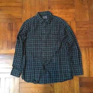 Uniqlo 綠色格仔Check Shirt 恤衫 襯衫