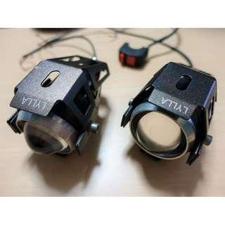 LED Fog Lights Motorcycle Motorbike Touring
