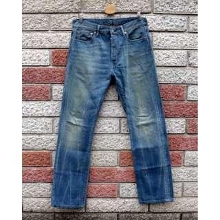Levis 501 二手牛仔褲- 正品 -(LEVIS 00501-1511)-W34