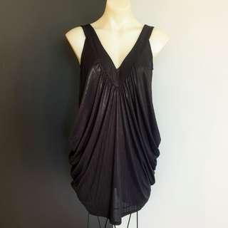 Women's size S 8-12 'LADAKH' Gorgeous black grecian style long top/dress -AS NEW