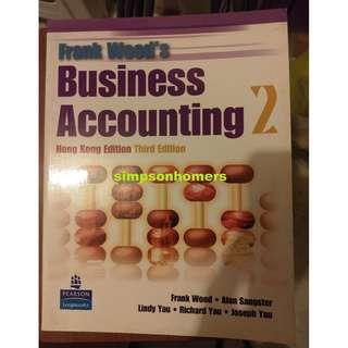 Business Accounting 2 Hong Kong Edition Third edition Frank Wood 會計天書