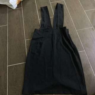 [2 for $12] Black Bodycon Suspender Skirt