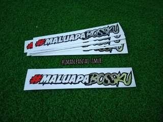 Sticker #maluapabossku
