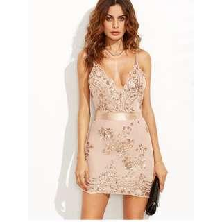 Open Back Sequins Dress