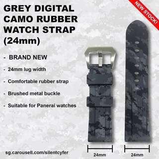 BN Grey Digital Camo Rubber Strap 24mm