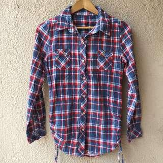 Plaid polo (brand new)