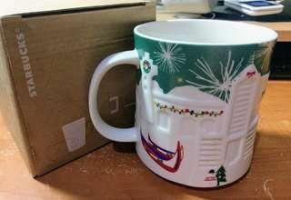 🚚 星巴克Starbucks 綠光耶誕浮雕台灣城市杯