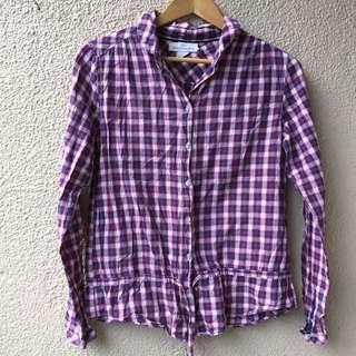 H&M plaid buttondown