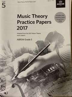 ABRSM 2017 Grade 5 Music Theory Practice Papers