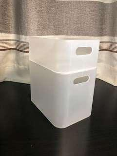 Stackable Clear Boxes, large and small