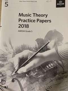 🚚 ABRSM 2018 Grade 5 Music Theory Practice Papers