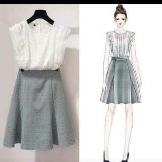 Top And Skirt One Set #STB50