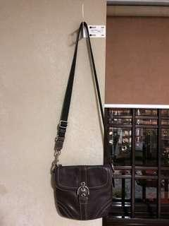 Leather Sling Bag (Coach)