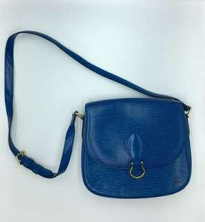 LV epi leather saint cloud blue sling bag