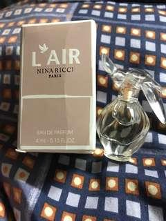 Nina Ricci Paris L Air Eau De Parfum 4ml 香水版 全新
