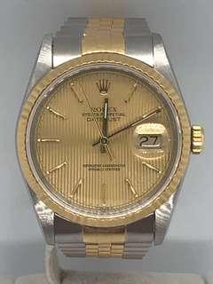 🚚 Rolex Datejust Men Tapestry Dial 16233