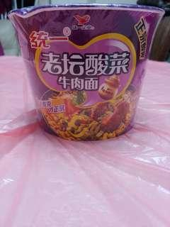 統一酸菜牛肉麵