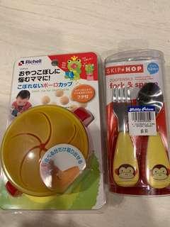 🚚 Fork and spoon and snack cup