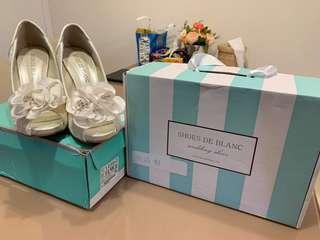 Shoes de blanc 結婚鞋