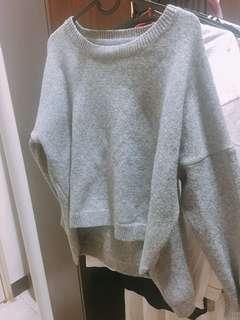 🚚 前短後長針織毛衣