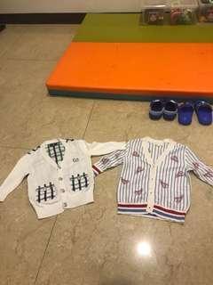 🚚 寶寶兒童-兩件合售Nicholas bear男寶針織外套