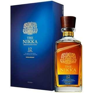 $750 正貨保證!有日本單! 送禮佳品! 日本威士忌 THE NIKKA AGED 12 YEARS PREMIUM BLENDED WHISKY