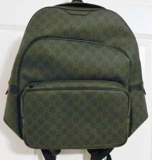 Authentic Gucci   GG Supreme black canvas backpack