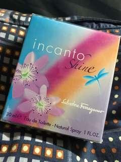 Salvatore Ferragamo 香水incanto shine 30ml 全新 Eau De Toilette Natural Spray Perfume 淡香水全新 花香 果香 甜美