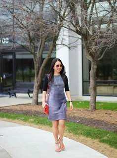 Stripes classy dress