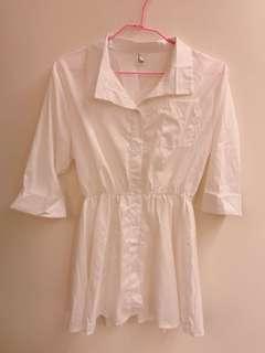 白色襯衫洋裝