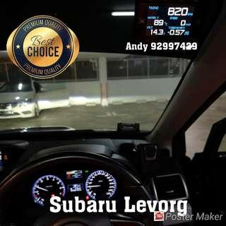 Subaru Levorg Lufi X1 Revolution OBD OBD2 Gauge Meter display Ready