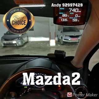Mazda 2 Lufi X1 Revolution OBD OBD2 Gauge Meter display