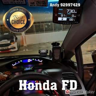 Honda FD Lufi X1 Revolution OBD OBD2 Gauge Meter display