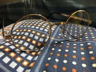金色圓形眼鏡 襯衫 文青 vintage 哈利波特 韓風 kpop circle glasses 大受好評 全新 最後2副 包平郵 😱素顏 skur