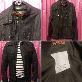 Zara Man Black Jacket Parachutes