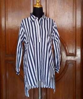 New!  Fida Stripe Shirt in Navy