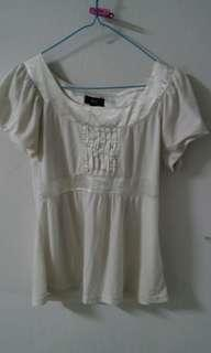 Free tops for her (S white) _Size Colour